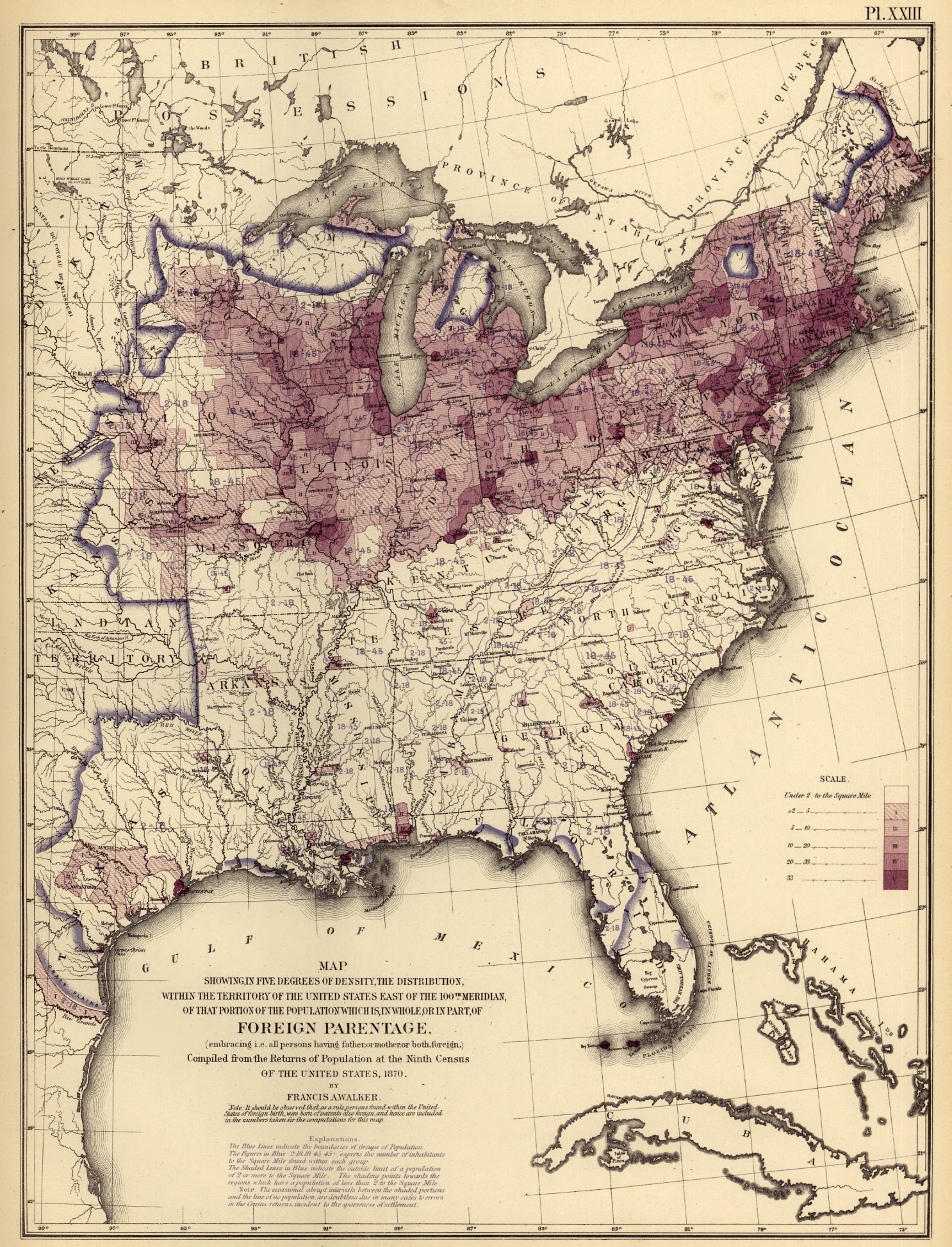 United States In Map United States Mappery FileUnited States - Ancestry population distribution map of us