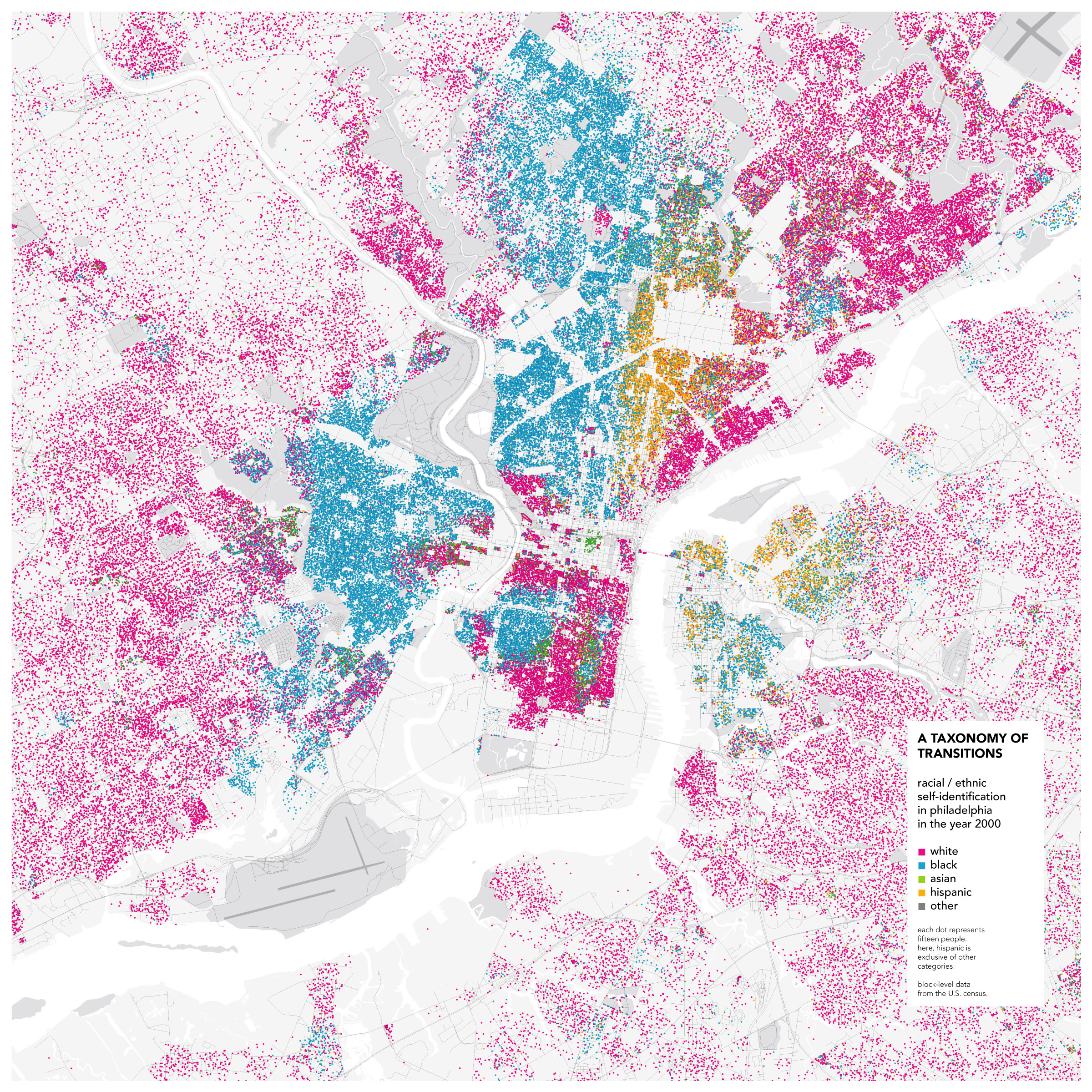 Philadelphia Race Map Diverse suburbs of Philadelphia? (Norristown, Bensalem, Upper