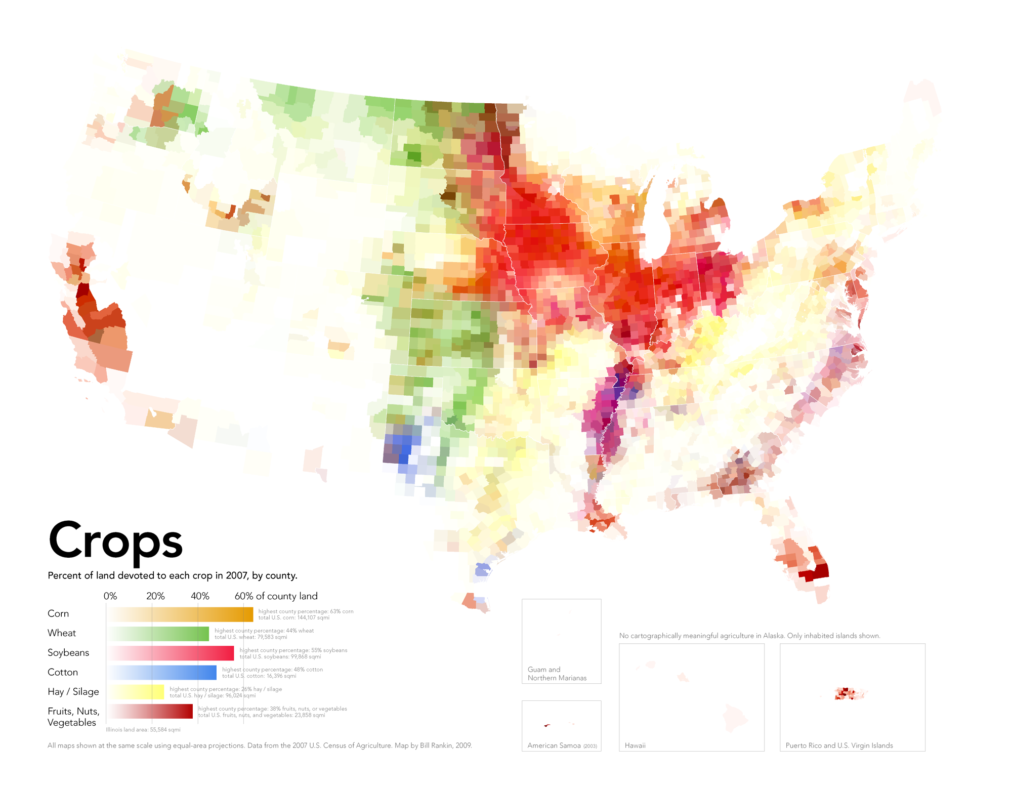 Radicalcartography - Agriculture in the us map