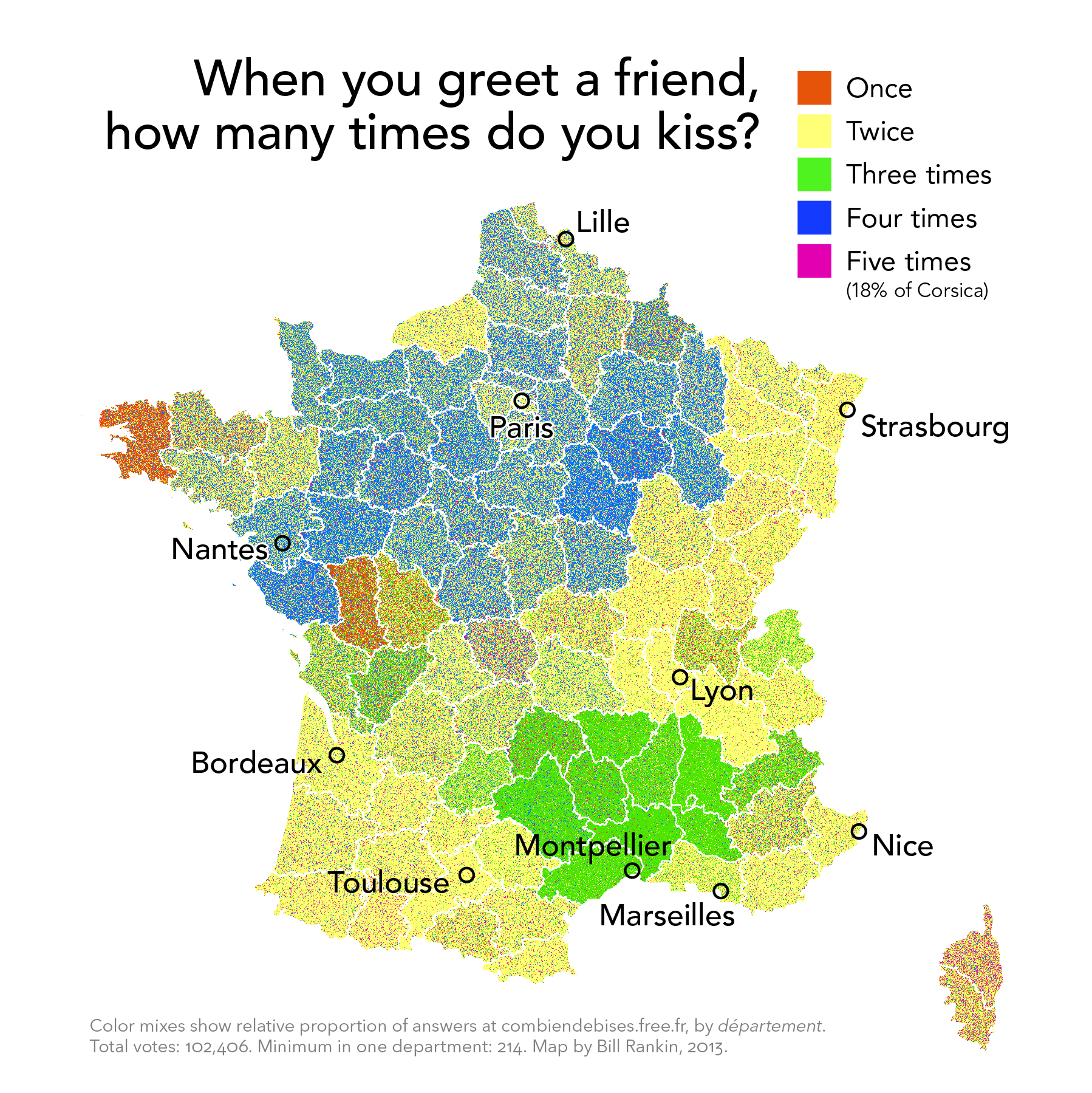 Map Of France Kisses.Radicalcartography