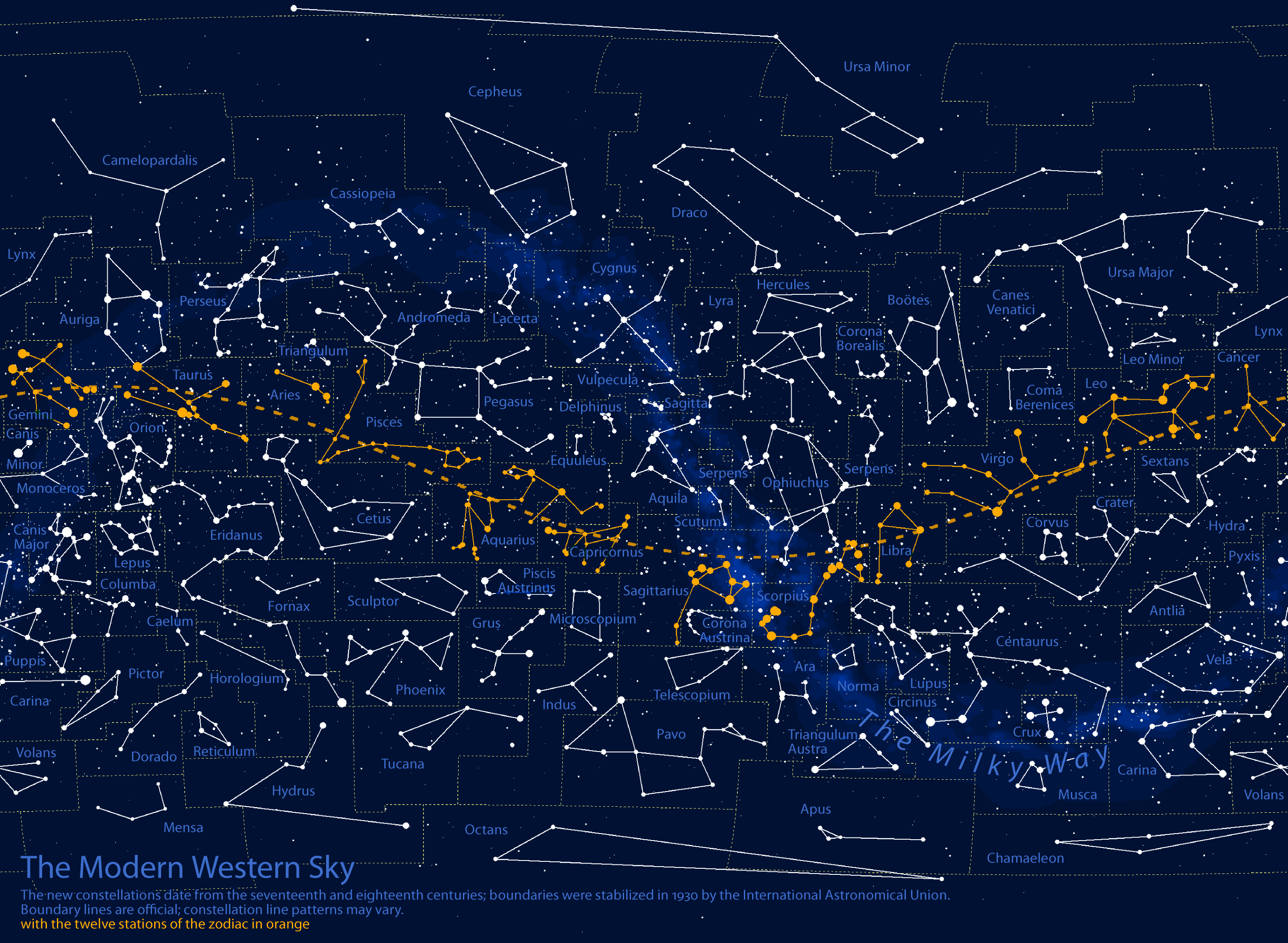 Radicalcartography - Night sky map northern hemisphere