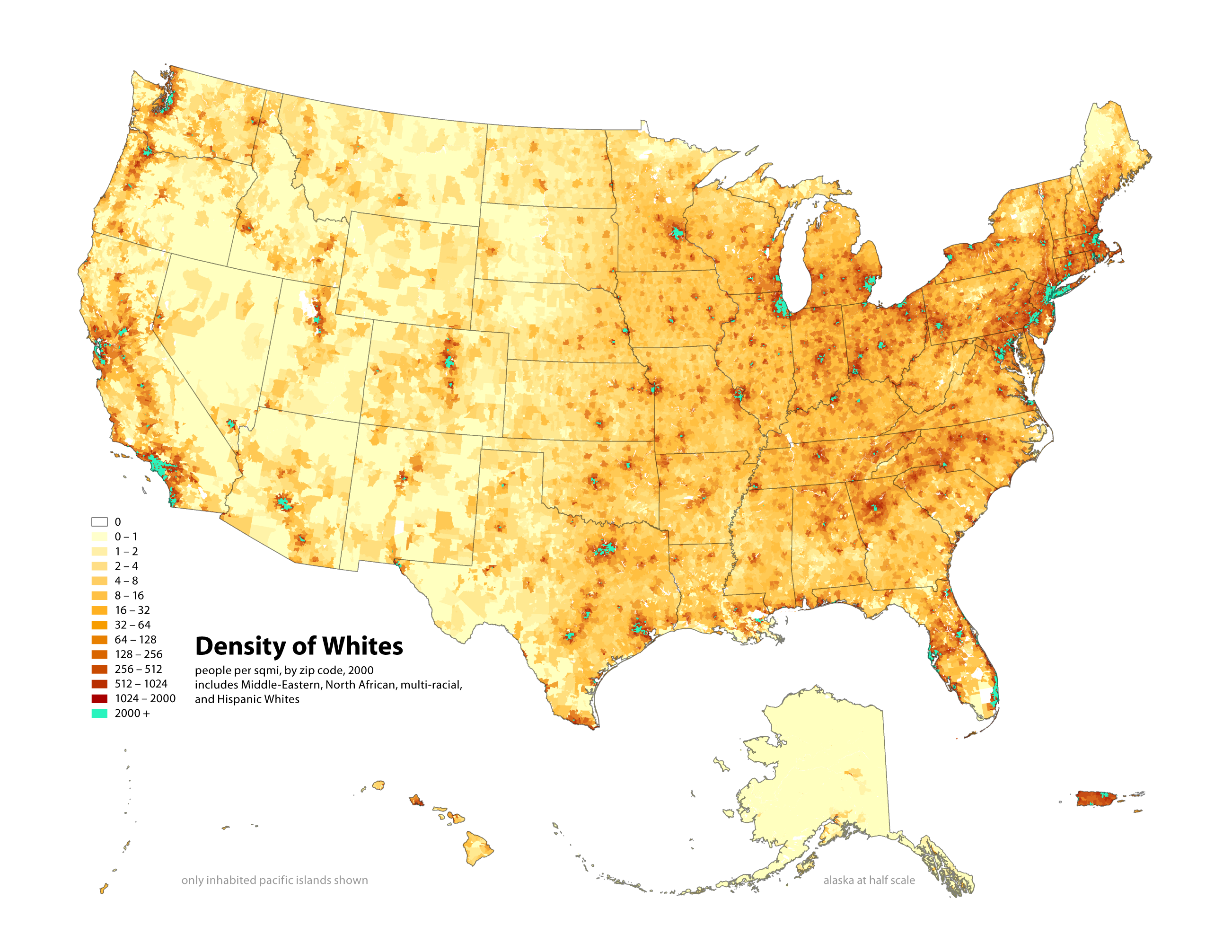 Radicalcartography - Us census map by race