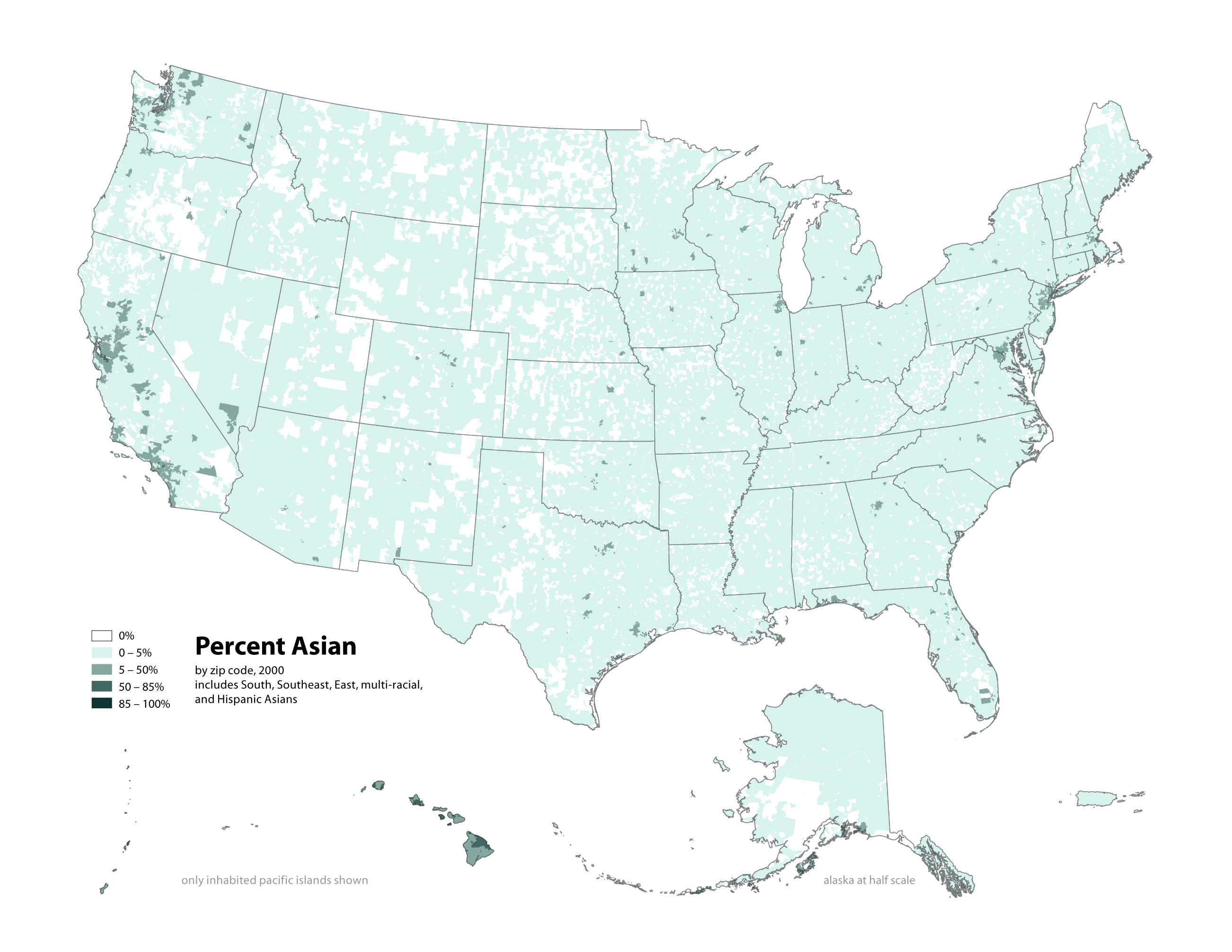 Radicalcartography - Asian Population In Us Map