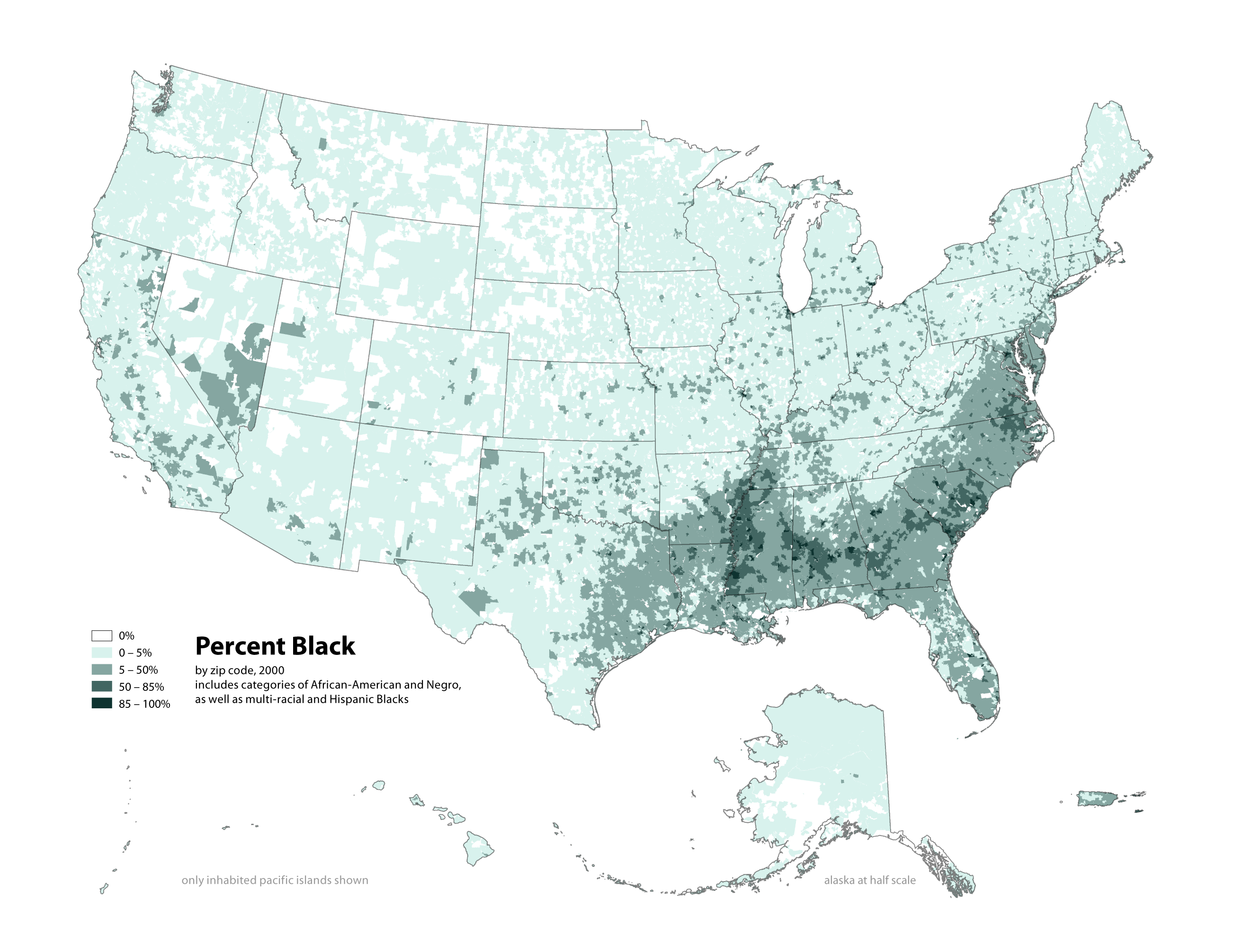 Radicalcartography - Population by race us interactive map