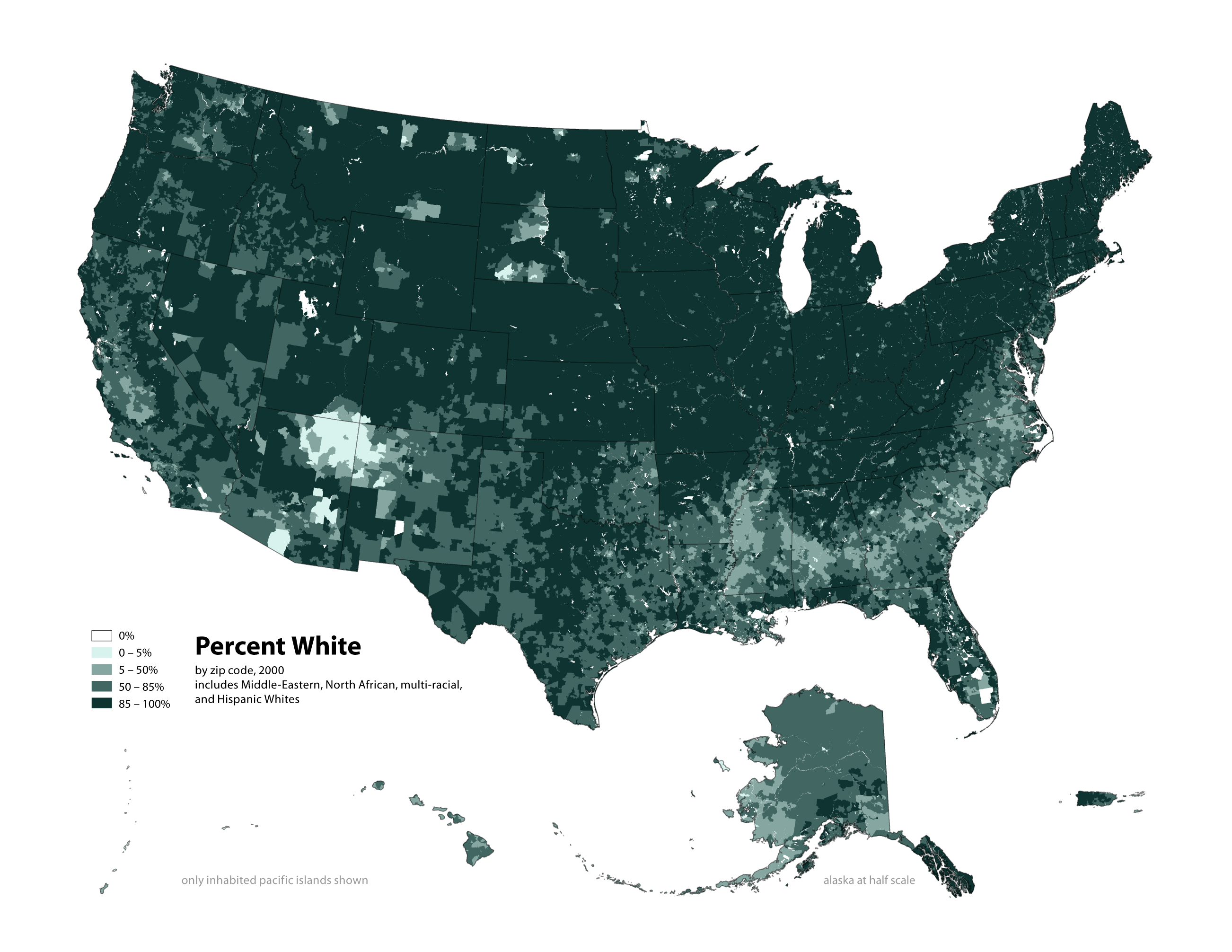 Radicalcartography - Us population map 2015