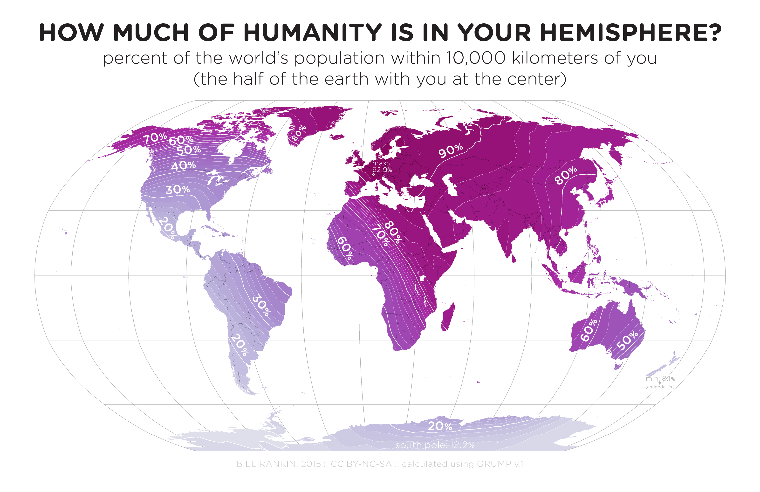 How much of humanity is in your hemisphere brilliant maps human hemisphere gumiabroncs Image collections